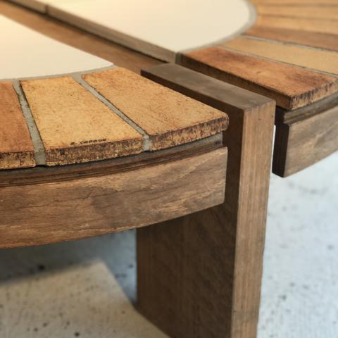 TABLE ROGER CAPRON VALLAURIS 1950 COFFEE TABLE