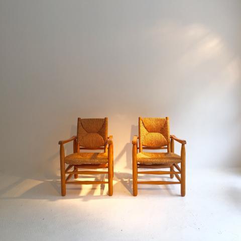 paire de fauteuils bauche circa 1950 helene breheret benjamin desprez design gallery. Black Bedroom Furniture Sets. Home Design Ideas