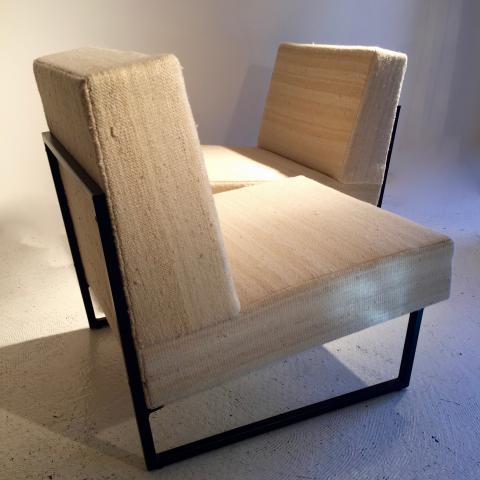 paire de chauffeuses courchevel circa 1960 helene breheret benjamin desprez design gallery. Black Bedroom Furniture Sets. Home Design Ideas